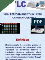 HPTLC -HIGH PERFORMANCE THIN LAYER CHROMATOGRAPHY