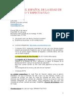TEATRO DEL ESPAÑOL DE LA EDAD DE ORO - Subray