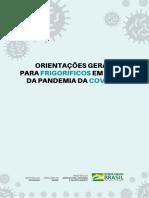Manual Orientações Gerais Para Frigoríficos Em Razão Da Pandemia Da Covid 19