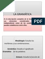 La Gramática. Oración