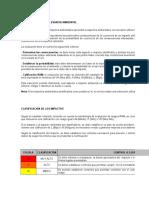 MATRIZ DE IDENTIFICACION DE ASPECTOS AMBIENTALES, VALORACION DE IMPACTOS AMBIENTALES Y DETERMINACIÓN DE CONTROLES