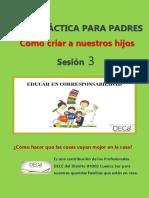 TEMA 3 EDUCAR EN CORRESPONSABILIDAD