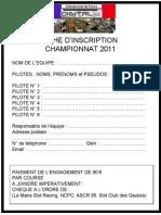 Inscription Course Champion Nat de France 2011-1
