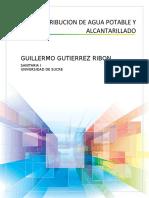 DISTRIBUCION DE AGUA POTABLE Y ALCANTARILLADO