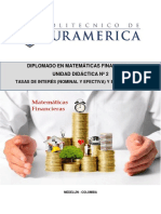 UNIDAD DIDACTICA 2 MATEMATICAS FINANCIERAS tasa de interes