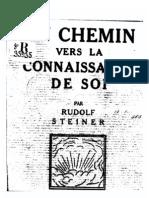 Rudolf Steiner - Un Chemin Vers La Connaissance De Soi - Huit Méditations