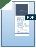 DESCIPCION BASICA DE FALLAS TIPICAS DE REPARRACION MAYOR.docx