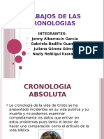 TRABAJOS DE LAS CRONOLOGIAS
