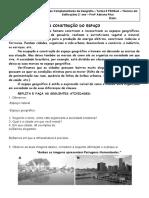 ATIVIDADES SOBRE A CONSTRUÇÃO DO ESPAÇO