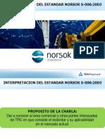 Interpretacion de NORSOK S-006