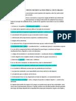 COMPRENSION DE TEXTO DE EDUCACION FISICA ONCE GRADO