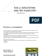 Defectos y soluciones proceso de inyeccion