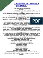 TALLER PARA MAESTROS DE LA ESCUELA DOMINICAL