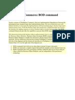 1- WebSphere Commerce BOD Command Framework