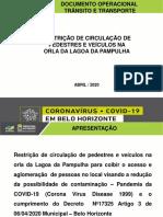 APRESENTAÇÃO FECHAMENTO ORLA DA PAMPULHA COVID19  FINAL 12h36