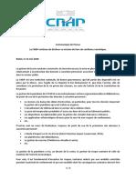 Communiqué CNDP-Wiqayatna