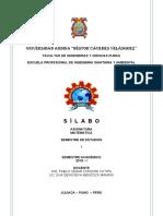 160065 SILABO 2019-I, SEMESTRE I, MATEMÁTICA
