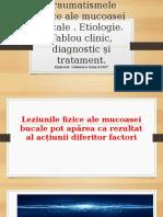 Traumatismele fizice. Etiologie. Tablou clinic, diagnostic și tratament..pptx