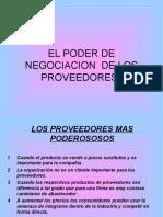 EL PODER DE NEGOCIACION  DE LOS PROVEEDORES.ppt