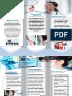 folleto de bioseguridad enfermeria