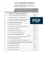 Form 1.Self Checklist( SWBL)