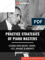 Practice of Piano Masters