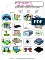 Computer Parts Vocabulary Matching Exercise ESL Worksheets For Kids And New Learners 3711