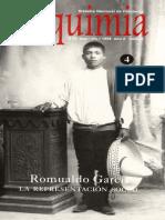 Alquimia. No. 4. Romualdo García. La representación social (Sep-Dic, 1998)