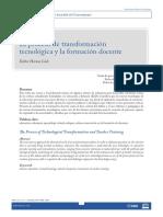 El proceso de transformación tecnológica y la formación docente