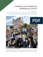 El sistema educativo en Colombia, un problema por resolver