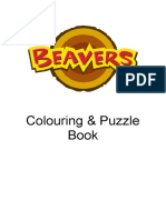 Beaver Colouring  Puzzle Book 614KB