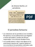 Historia de Antonio Nariño y el periodismo