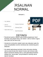 Kel. 1 dr. Marinda - Persalinan Normal + Pemecahan Ketuban Saat Lahir
