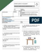 Taller virtual FÍSICA 11 - 1 y 2 ley de Newton