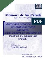 Audit des créances dans un établissement bancaire quel apport en matière de gestion du risque de  (1)