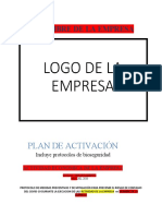 PROTOCOLO EDITABLE  DE BIOSEGURIDAD POR COVID-19