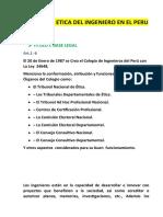 CODIGO DE ETICA DEL INGENIERO EN EL PERU  COMENTADA Y ANALIZADA