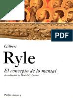 El concepto de lo mental - Ryle, G.