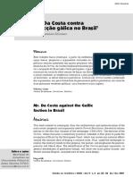 Da Costa contra a facção gálica no Brasil