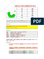 REGLAS - USO DE C