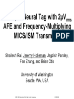 2009-JSSCC-A 500µW Neural Tag with 2µVrms AFE and Frequency-Multiplying MICSISM FSK Transmitter-visual