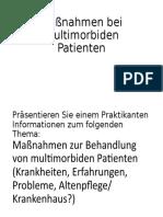 Maßnahmen bei multimorbiden Patienten