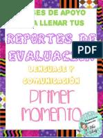 reportes de evaluación