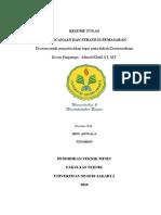 Resume Tugas Kewirausahaan_ibnuawwala_5315160625_perencanaan Dan Strategi Pemasaran