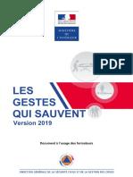 Les Gestes qui Sauvent 2019 fr