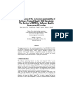 Analysis Industrial Applicability SQM2004 SQAE-9126