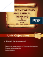 Reflective Writing and Critical Thinking