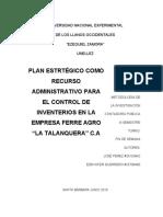 capitulo I,II.III plan estrategico de inventarios