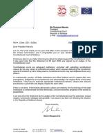 Mesajul președintelui Comisiei de la Veneția către Domnica Manole