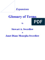 Expansions Glossary of Terms